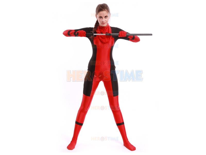Lady Deadpool Costume Girls Superhero Costume