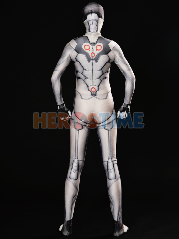 Overwatch Genji Nihon Costume White Nihon Skin Cosplay Suit