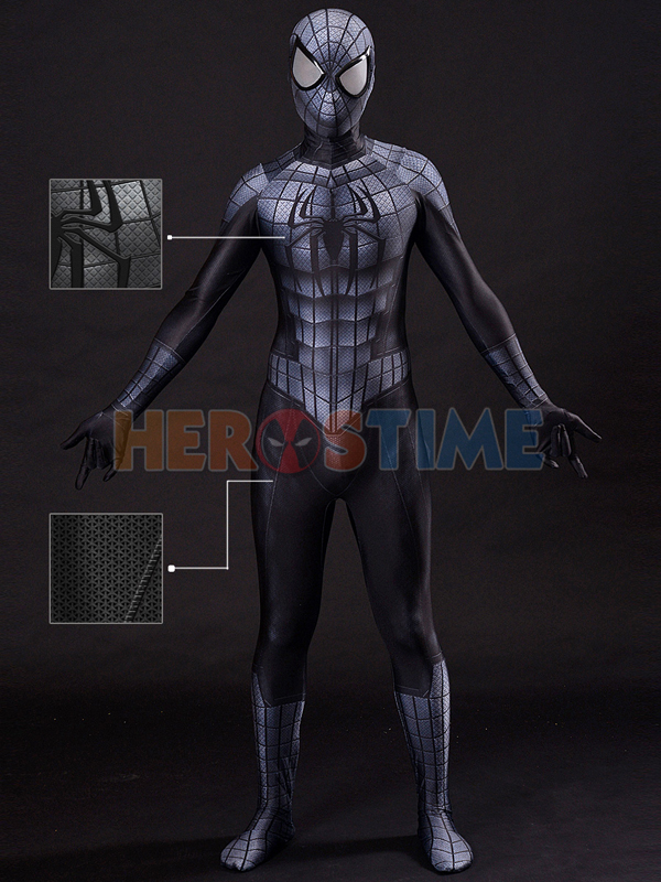 Black Armour Spider-Man Costume 3D Cosplay Spiderman Armour Suit